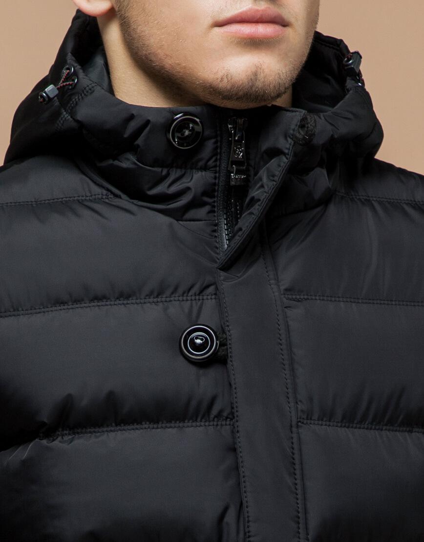 Куртка графитового цвета современная модель 20180 фото 4
