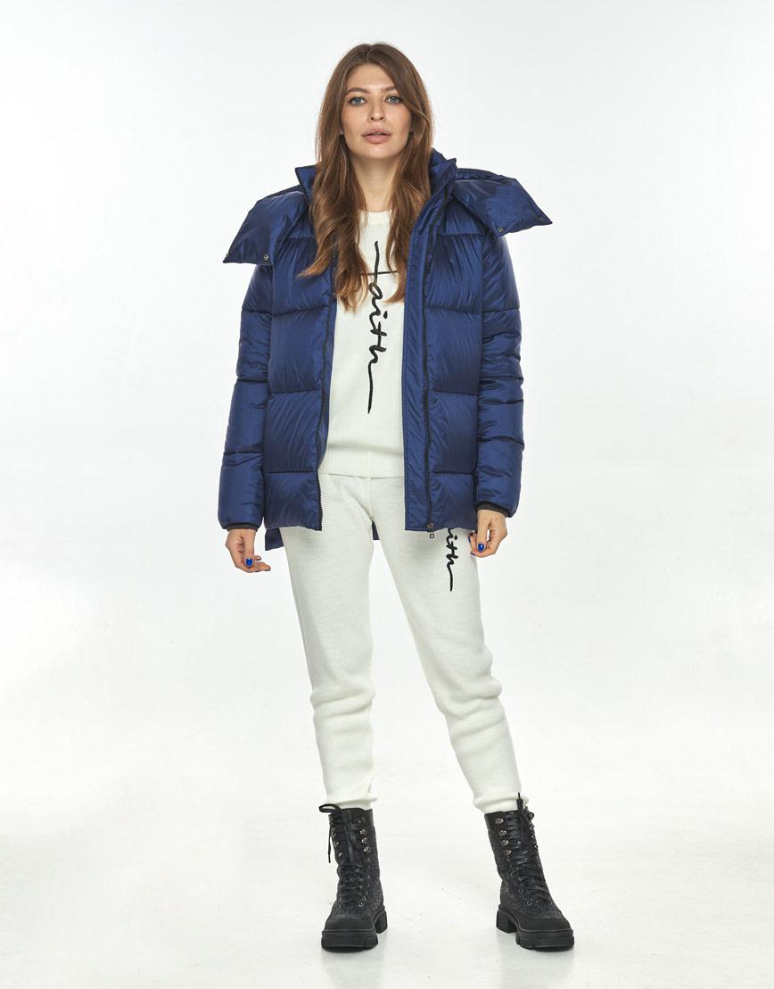 Синяя трендовая куртка женская Ajento 22430 фото 2