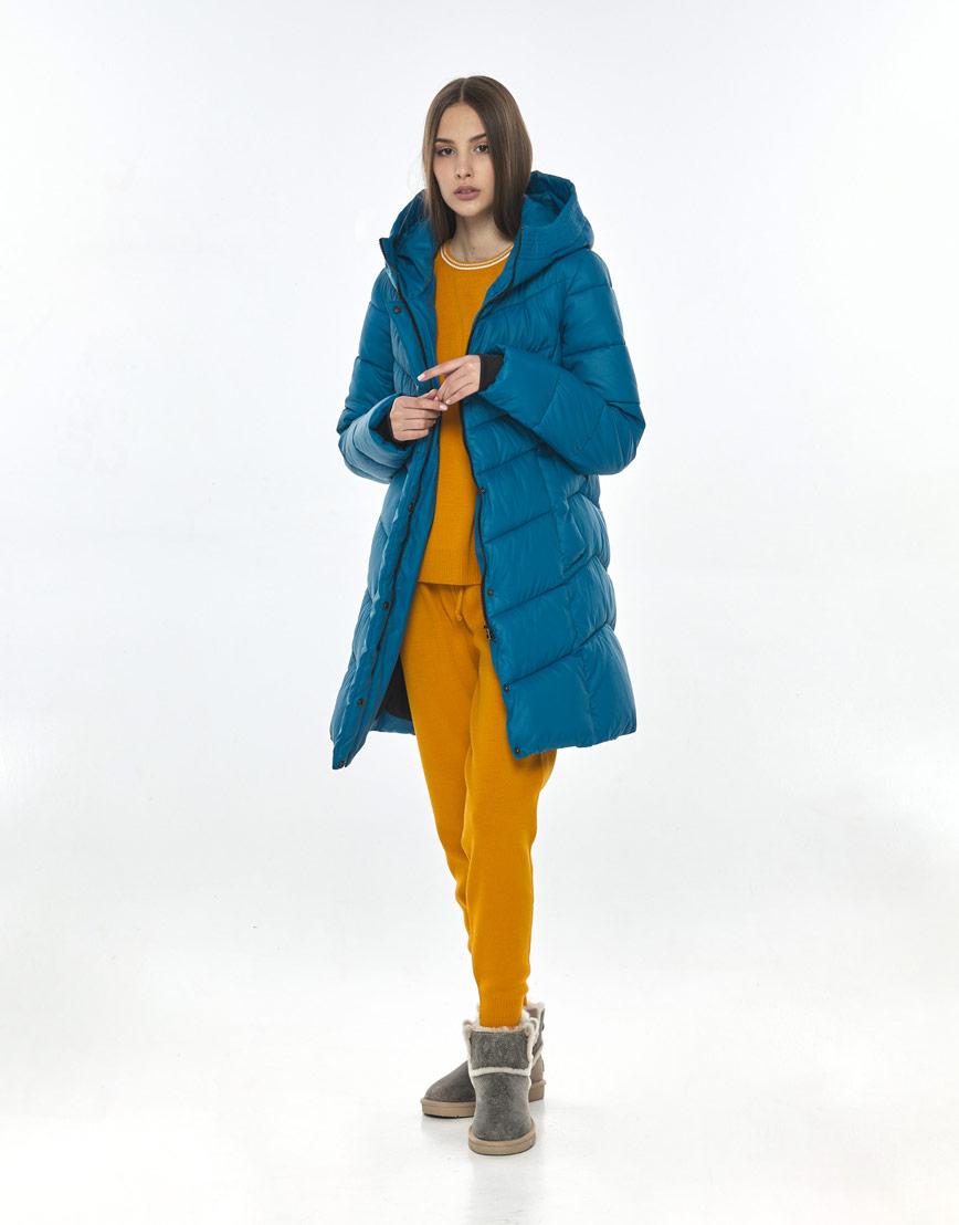 Брендовая аквамариновая куртка Vivacana женская на осень 7821/21 фото 2
