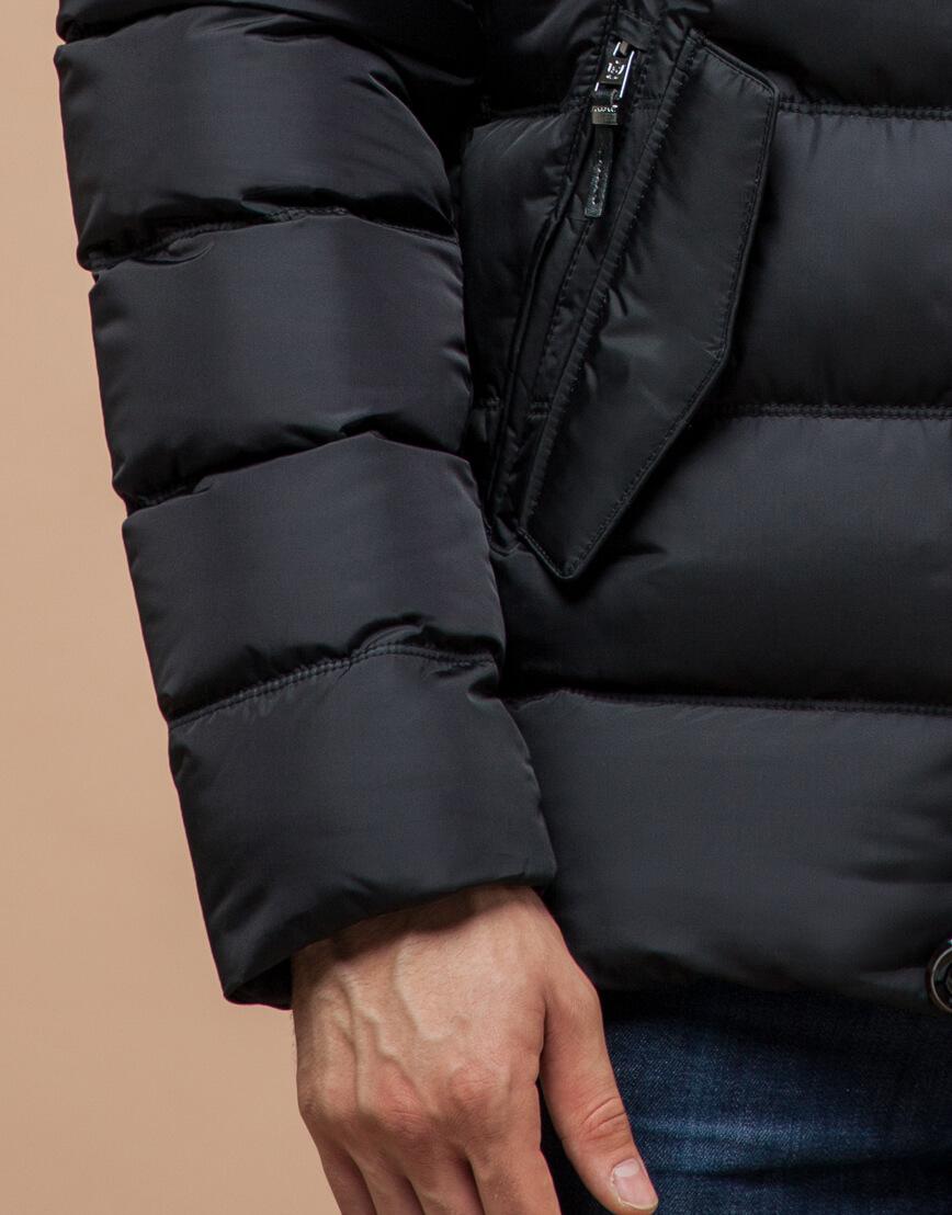 Куртка графитового цвета современная модель 20180 фото 5