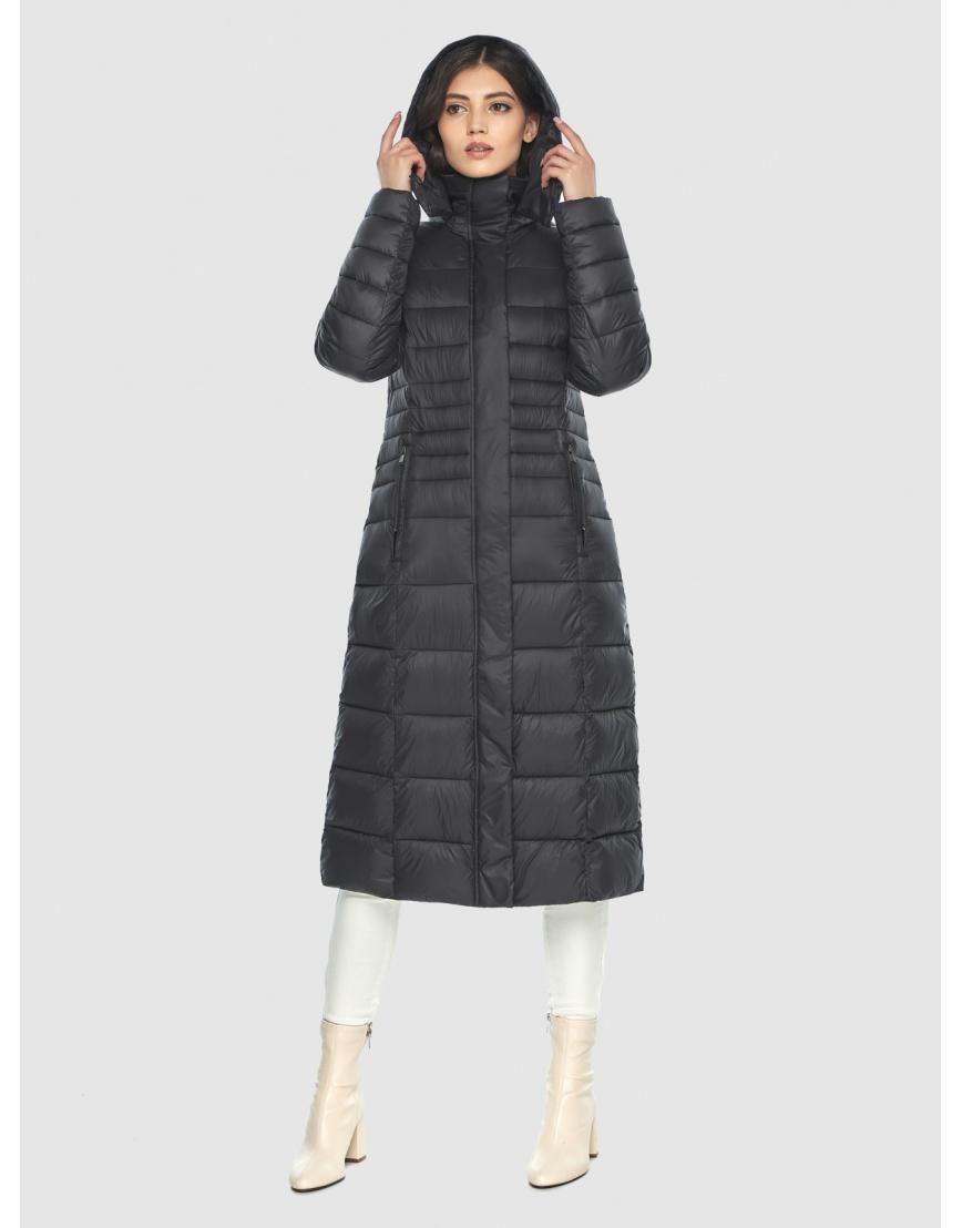 Куртка с капюшоном чёрная женская Vivacana 8140/21 фото 2