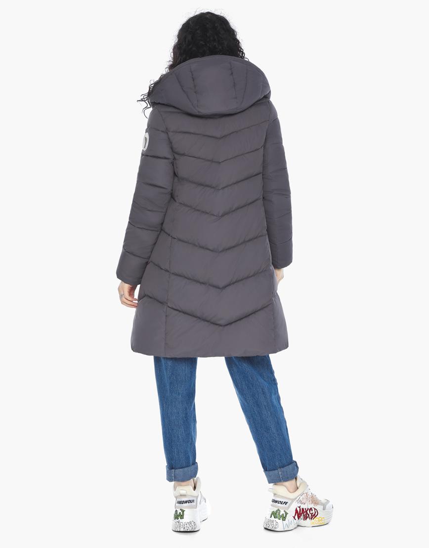 Куртка пуховик Youth женский графитовый молодежный фирменный модель 21025 фото 6
