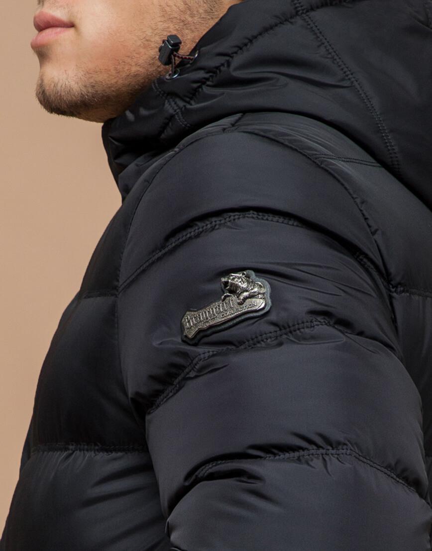 Куртка графитового цвета современная модель 20180 фото 6