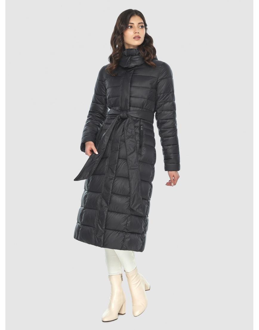 Куртка с капюшоном чёрная женская Vivacana 8140/21 фото 1