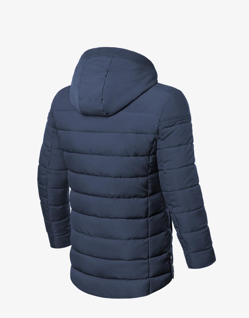 Современная зимняя куртка синяя модель 8806 фото 2