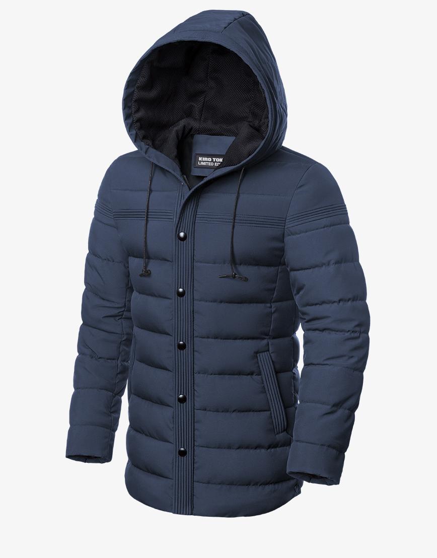 Современная зимняя куртка синяя модель 8806 фото 1