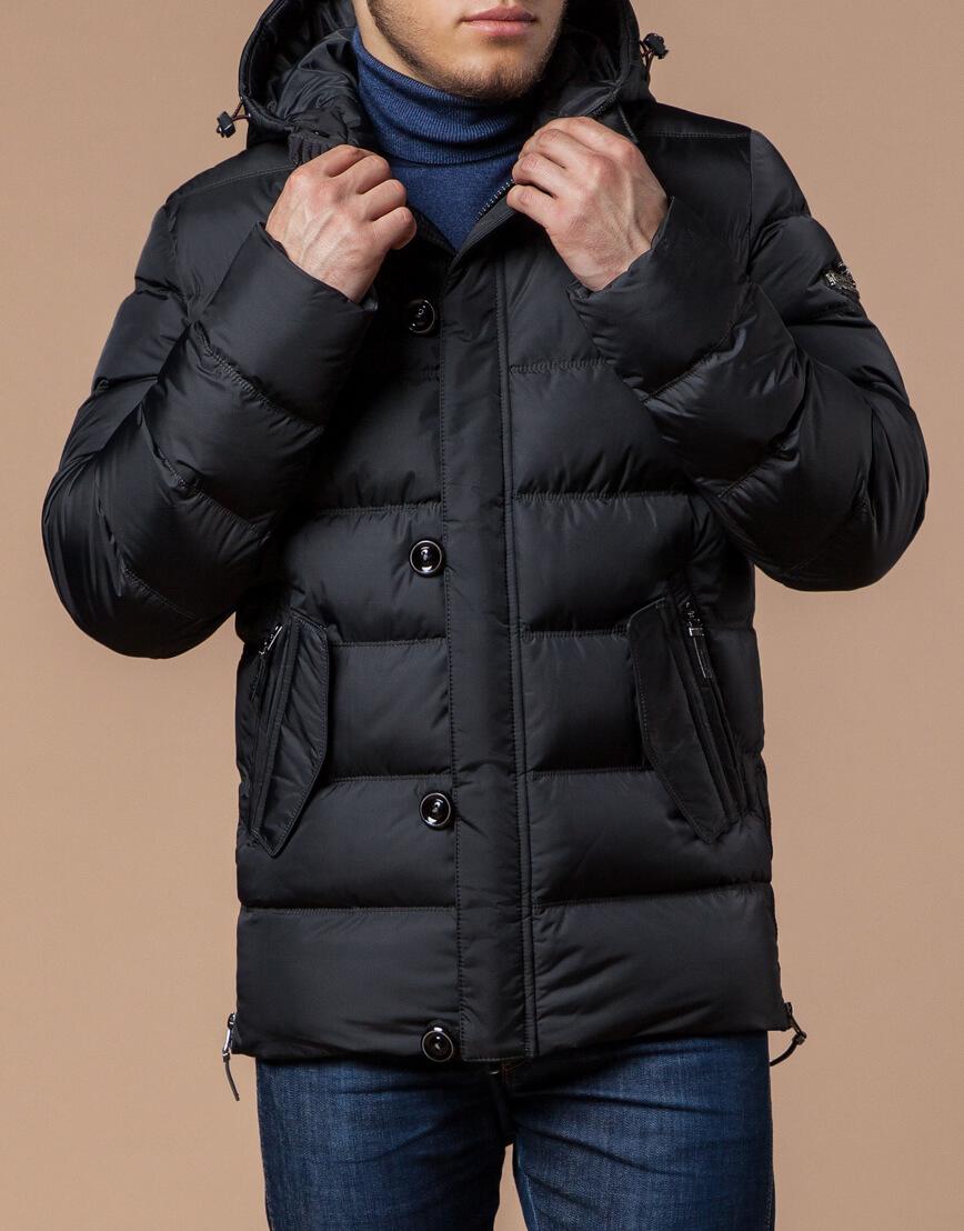 Куртка графитового цвета современная модель 20180 фото 1