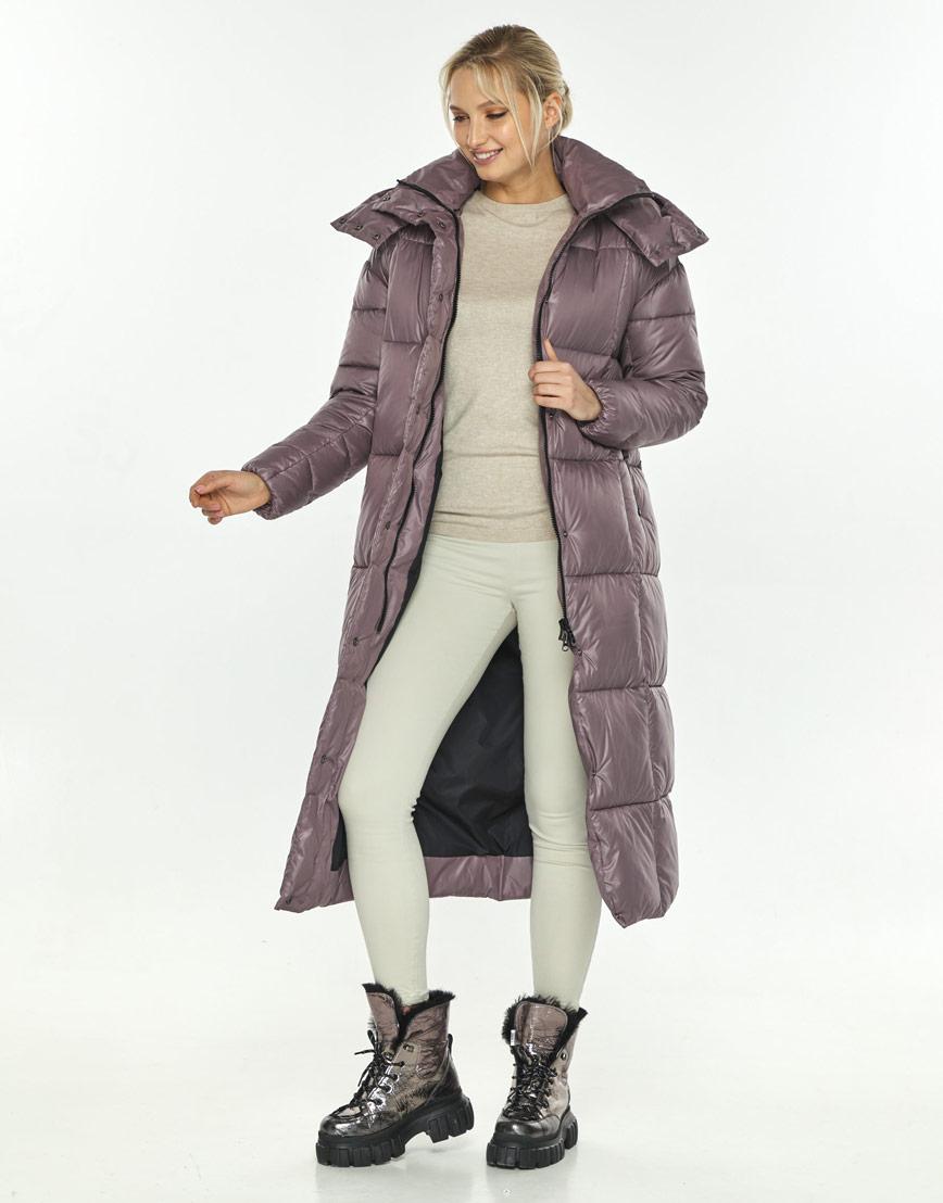 Пудровая куртка фирменная женская Kiro Tokao для зимы 60052 фото 2