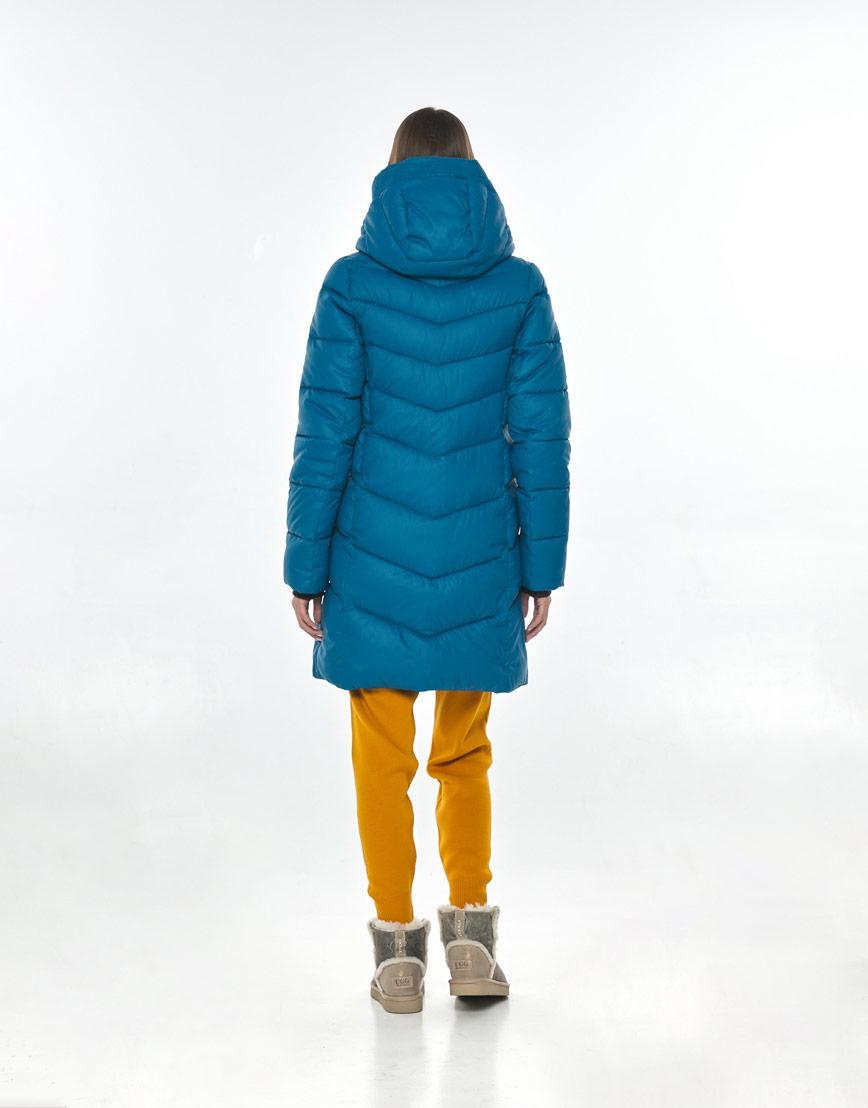 Брендовая аквамариновая куртка Vivacana женская на осень 7821/21 фото 3