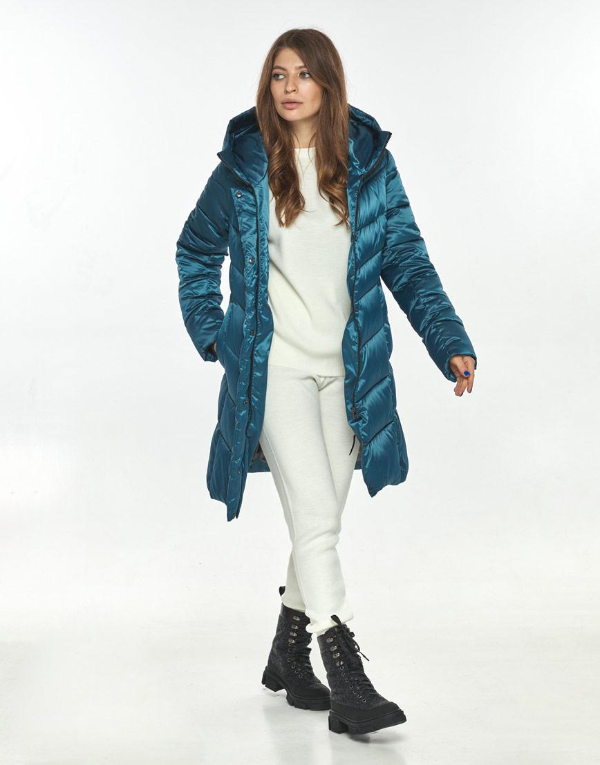 Аквамариновая куртка большого размера женская Ajento практичная 22857 фото 2