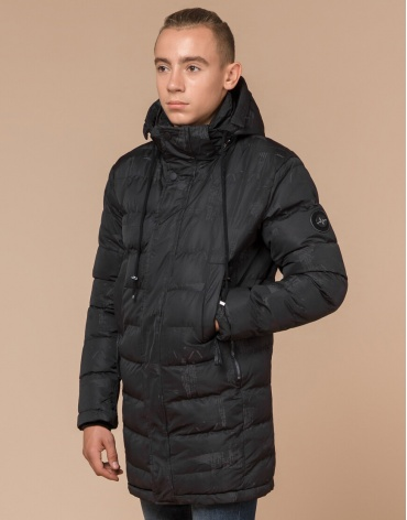 Качественная подростковая дизайнерская куртка серая модель 25300 оптом