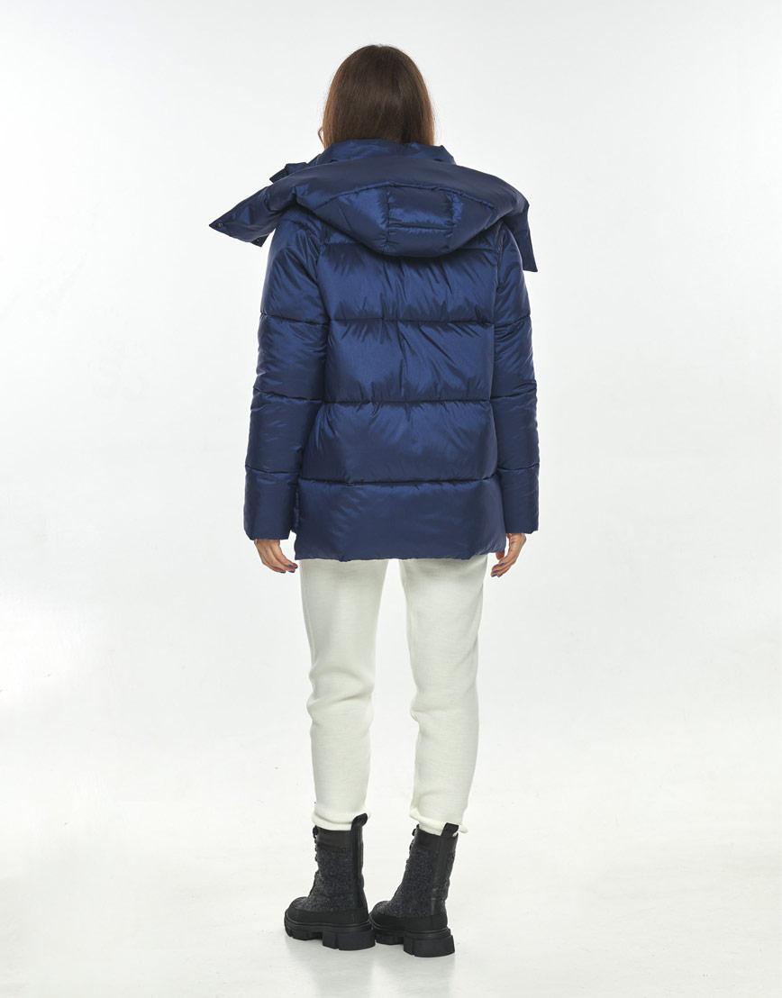 Синяя трендовая куртка женская Ajento 22430 фото 3