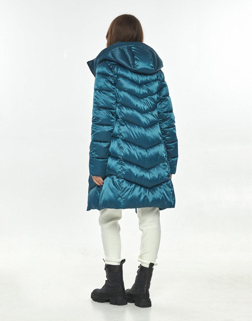 Аквамариновая куртка большого размера женская Ajento практичная 22857 фото 3