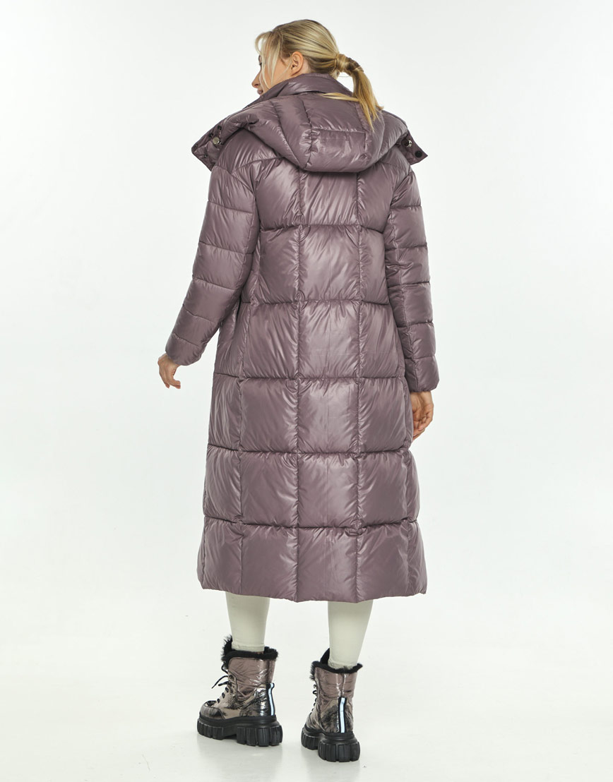 Пудровая куртка фирменная женская Kiro Tokao для зимы 60052 фото 3