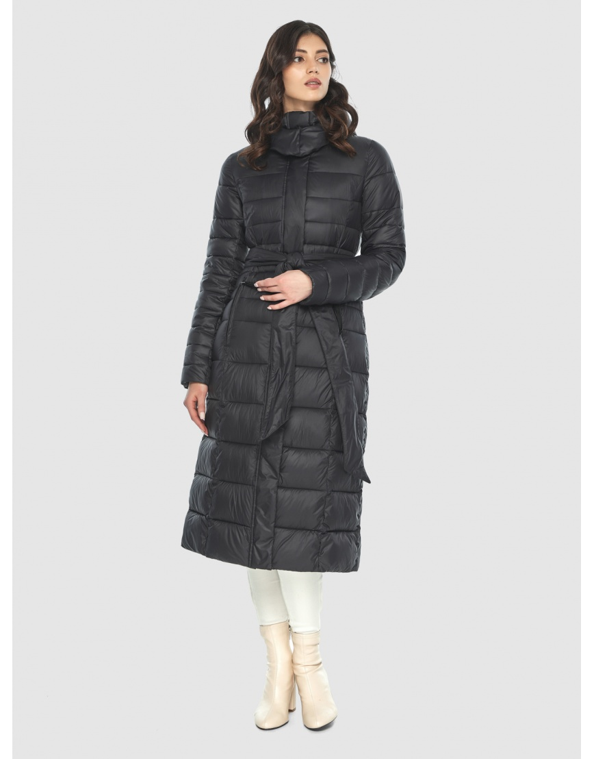 Куртка с капюшоном чёрная женская Vivacana 8140/21 фото 5