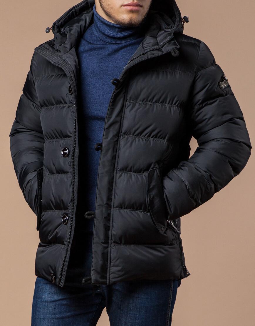 Куртка графитового цвета современная модель 20180 фото 2