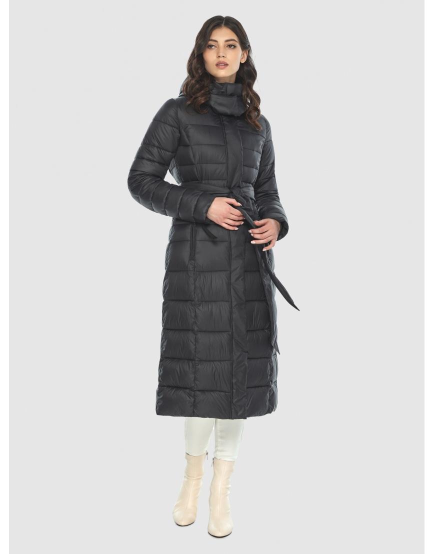 Куртка с капюшоном чёрная женская Vivacana 8140/21 фото 3