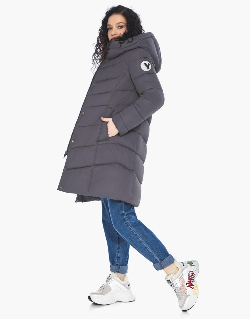 Куртка пуховик Youth женский графитовый молодежный фирменный модель 21025 фото 1