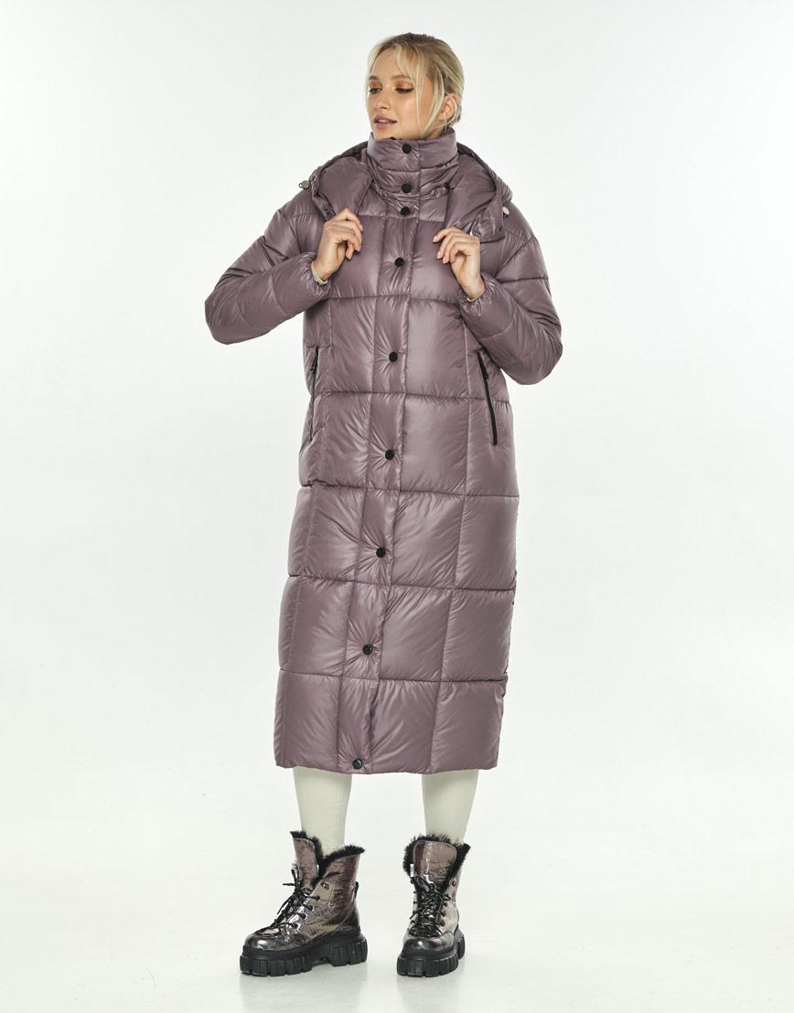 Пудровая куртка фирменная женская Kiro Tokao для зимы 60052 фото 1