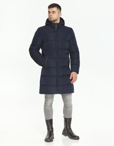 Куртка темно-синяя комфортная мужская модель 52045