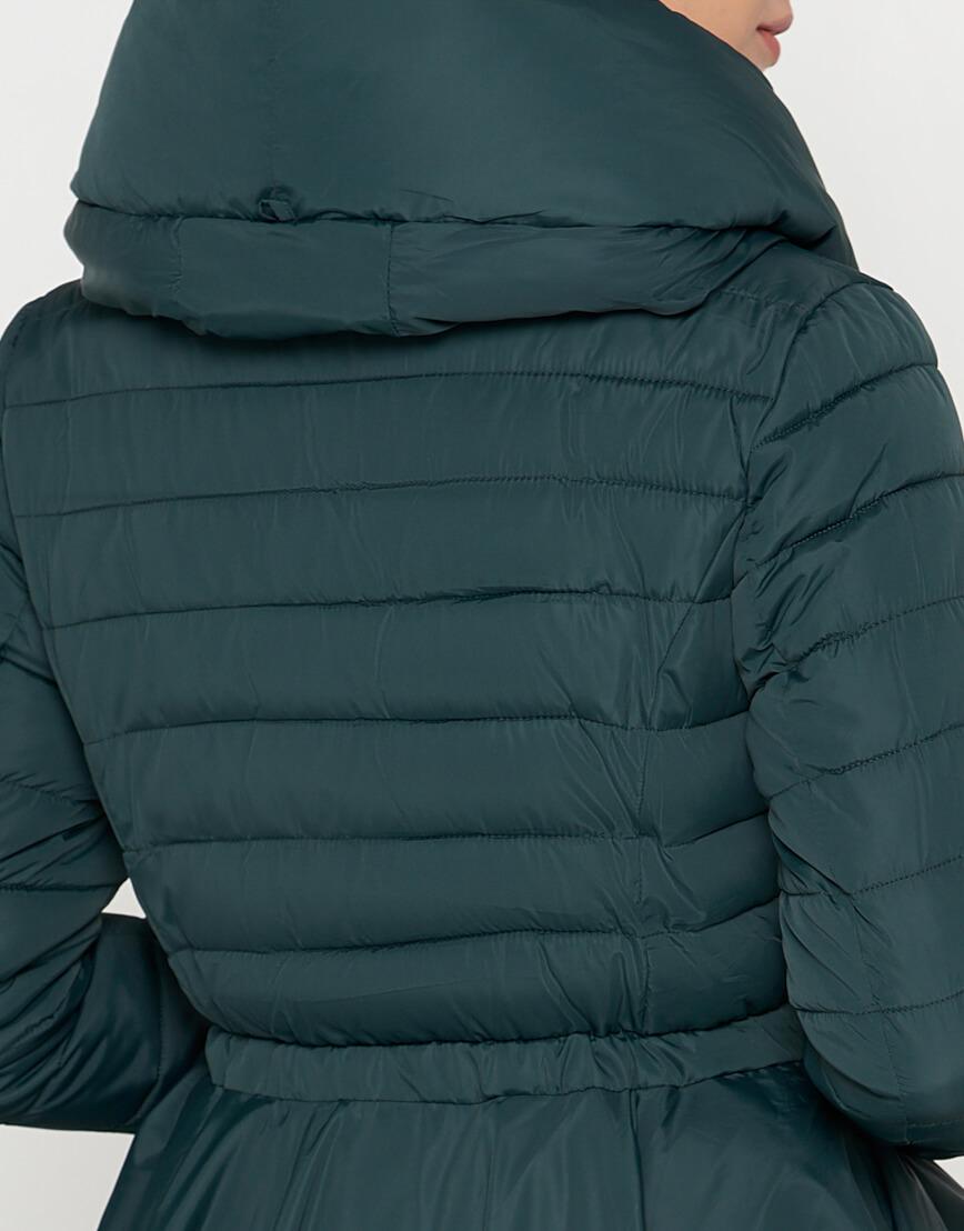 Зеленая куртка женская стильная модель 25755 фото 5