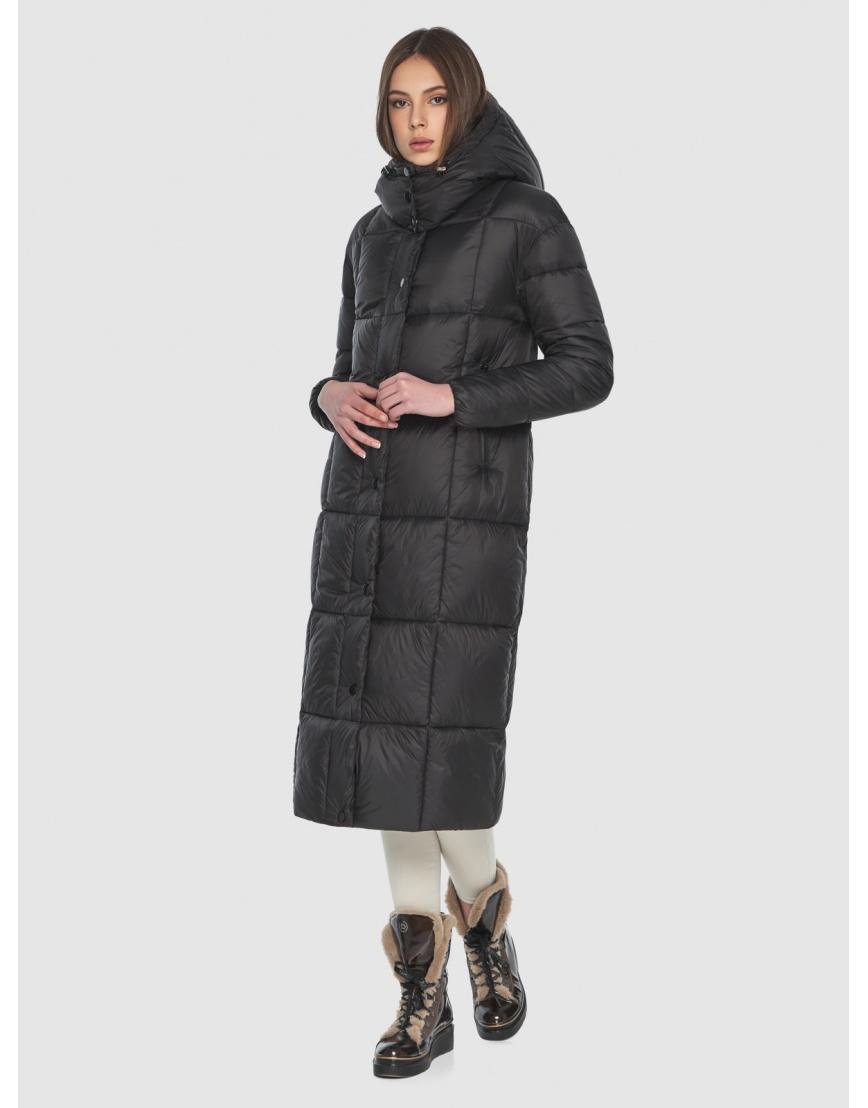 Чёрная длинная куртка женская Wild Club 541-74 фото 1