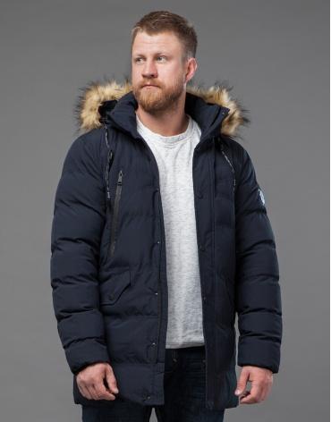 Синяя куртка мужская зимняя модель 72160