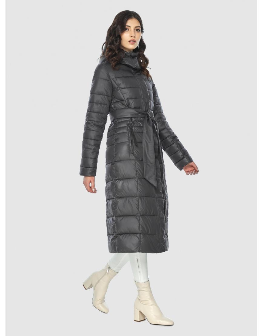 Стильная курточка женская Vivacana серая 8140/21 фото 3
