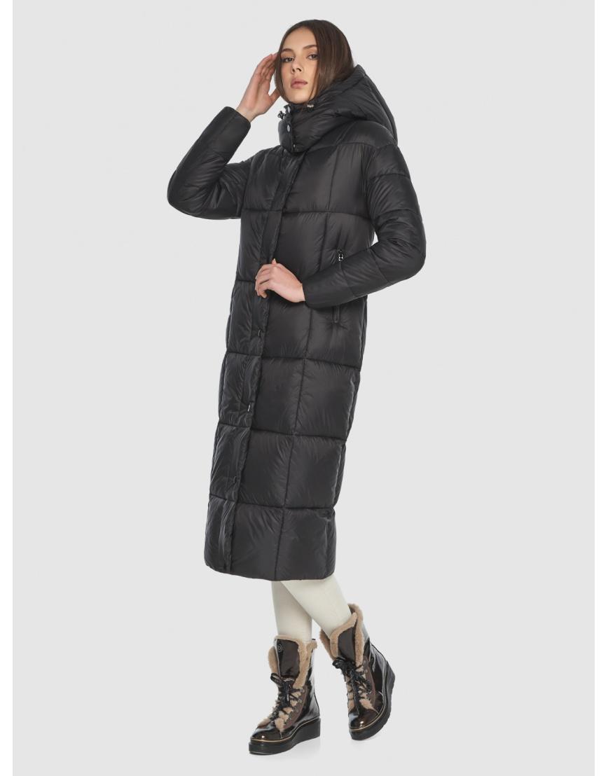 Чёрная длинная куртка женская Wild Club 541-74 фото 3