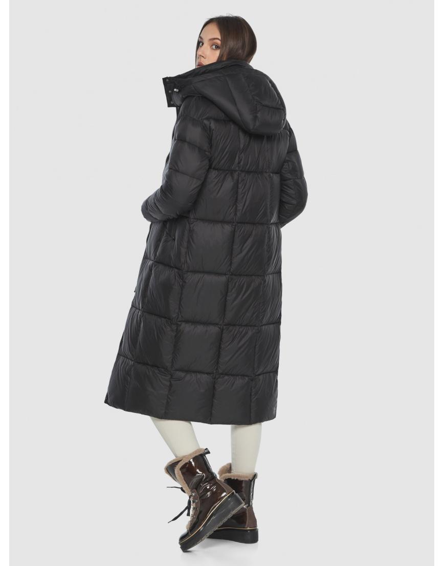 Чёрная длинная куртка женская Wild Club 541-74 фото 5