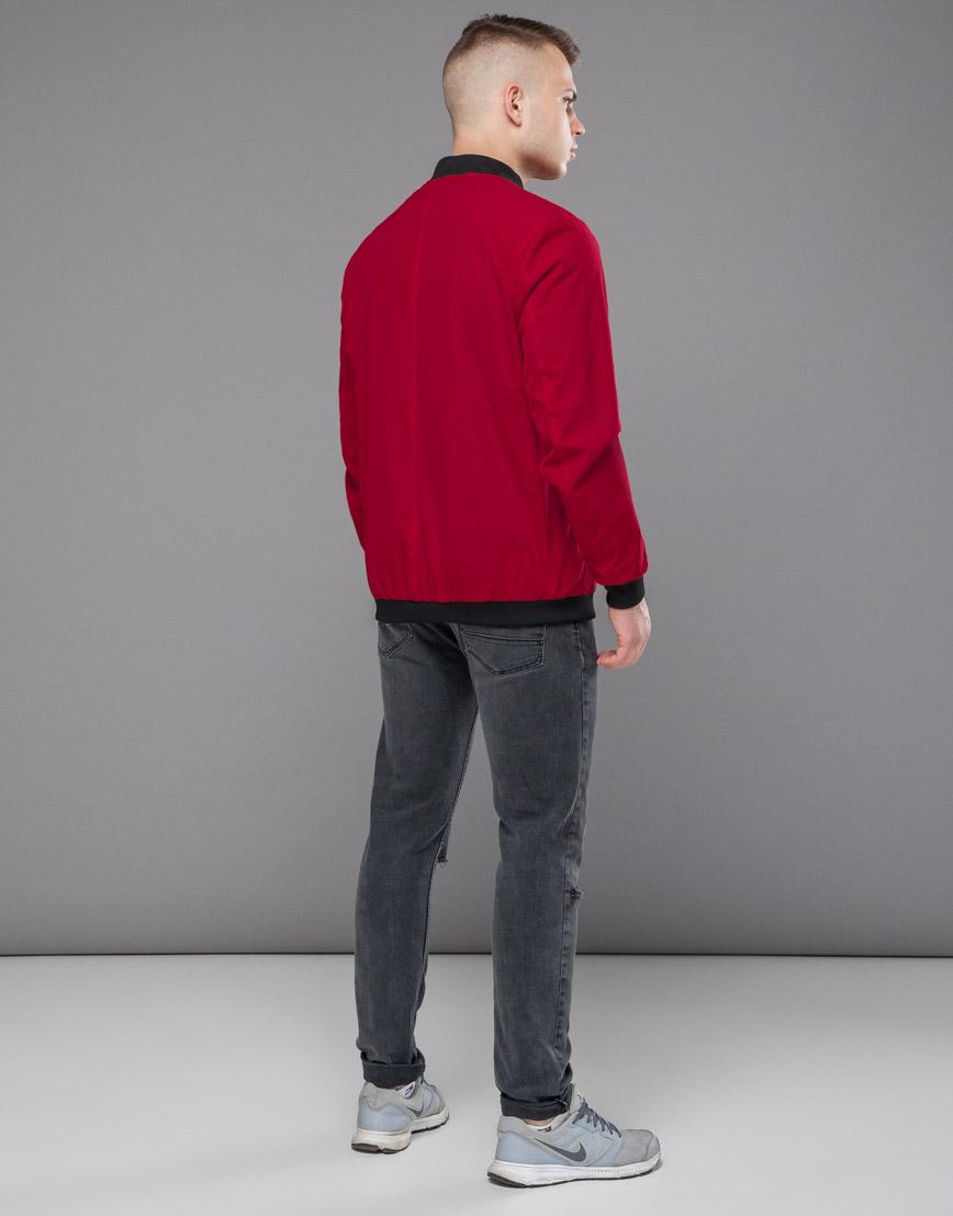 Красная ветровка осенне-весенняя трендовая модель 18428