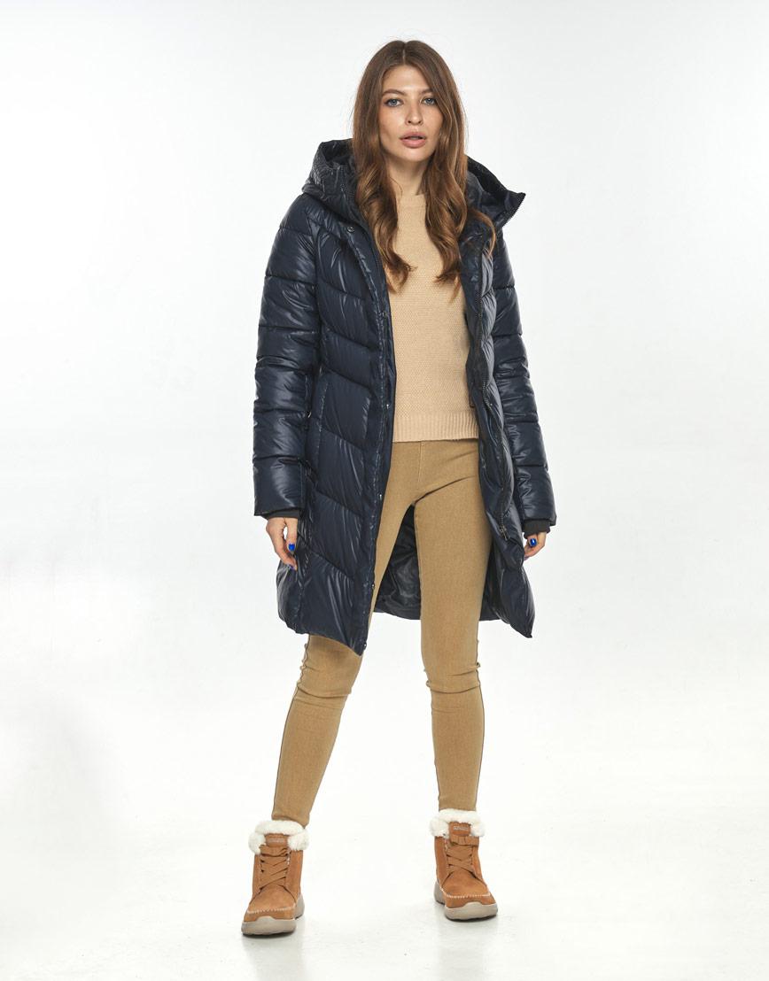 Оригинальная куртка большого размера женская Ajento синяя 22857 фото 1