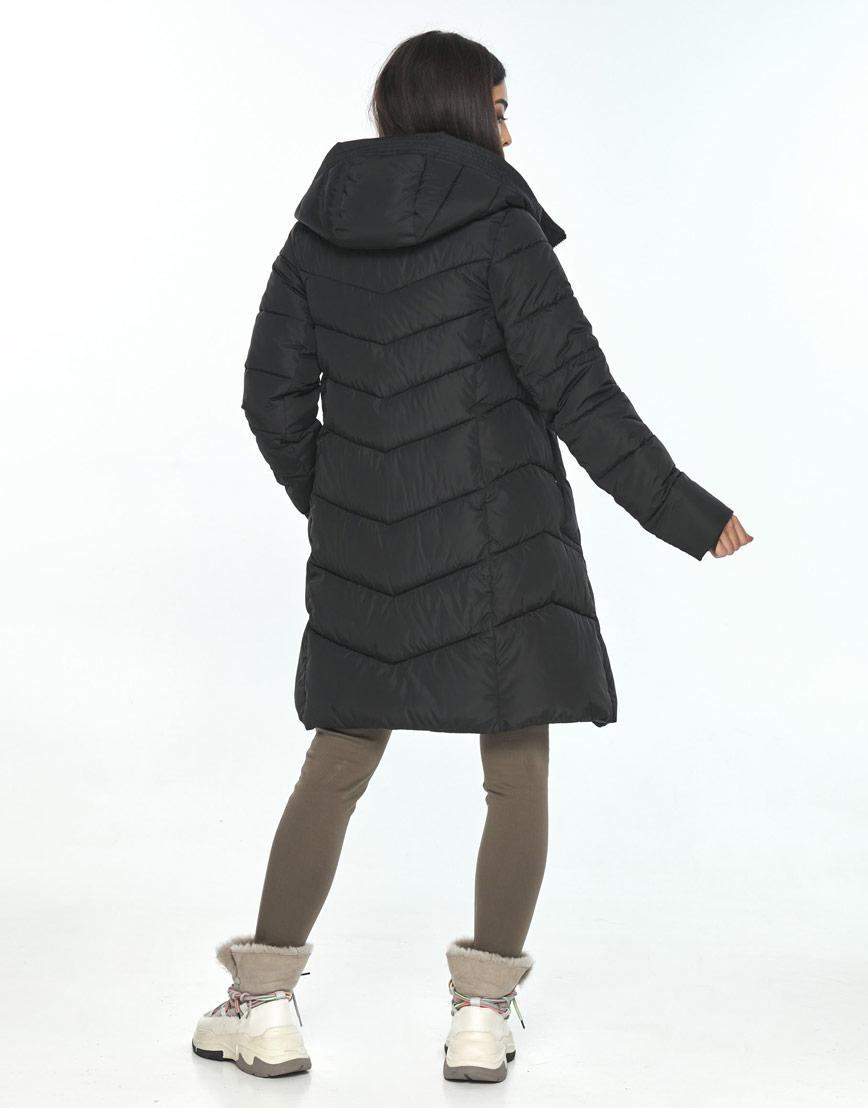 Куртка чёрная женская Moc на зиму M6540 фото 3