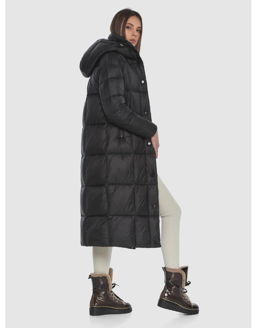 Чёрная длинная куртка женская Wild Club 541-74 фото 4