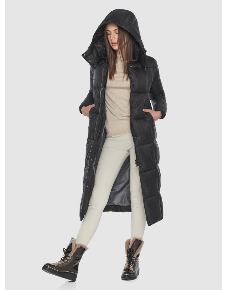 Чёрная длинная куртка женская Wild Club 541-74 фото 2