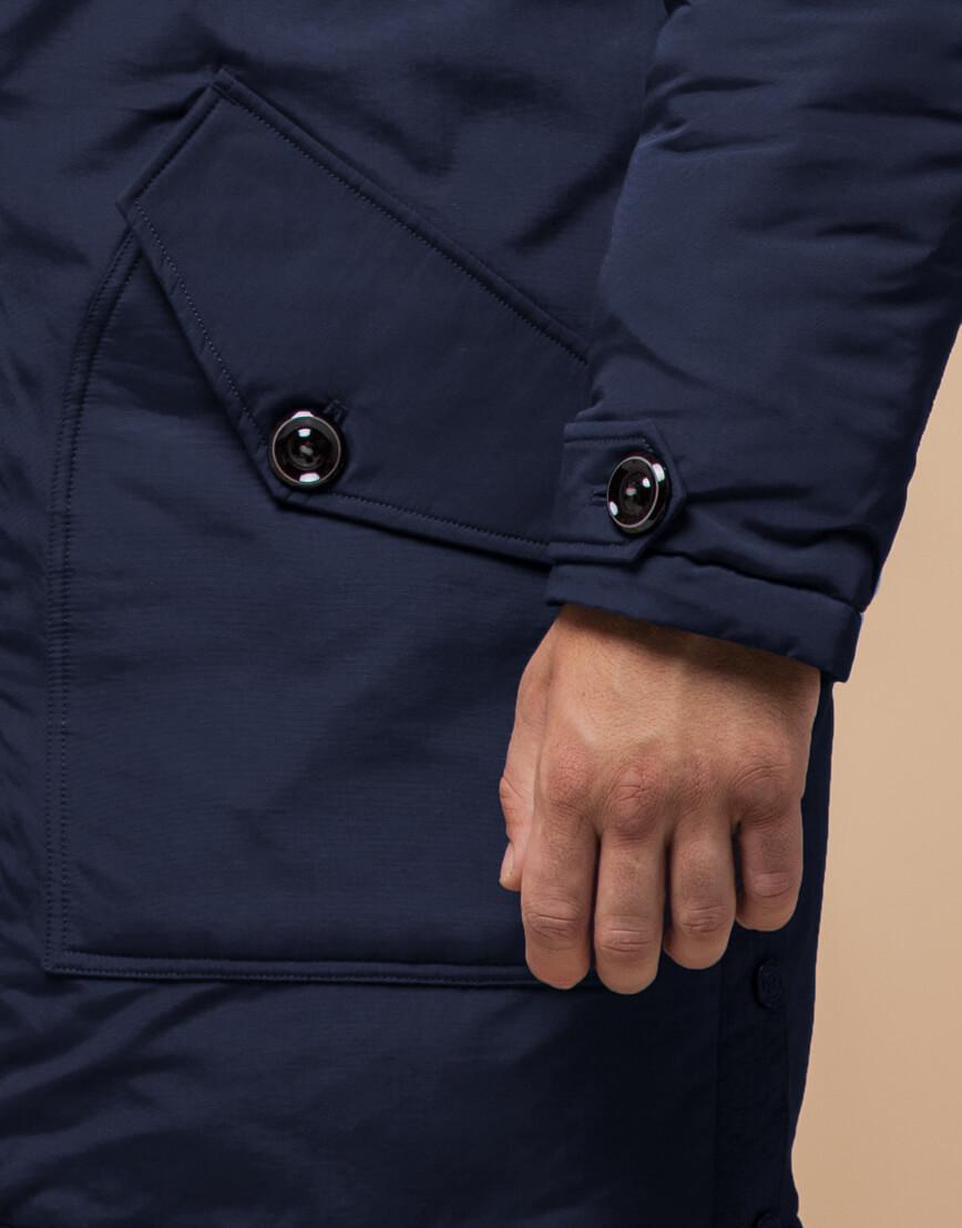 Синяя парка мужская на зиму модель 96120 оптом фото 5
