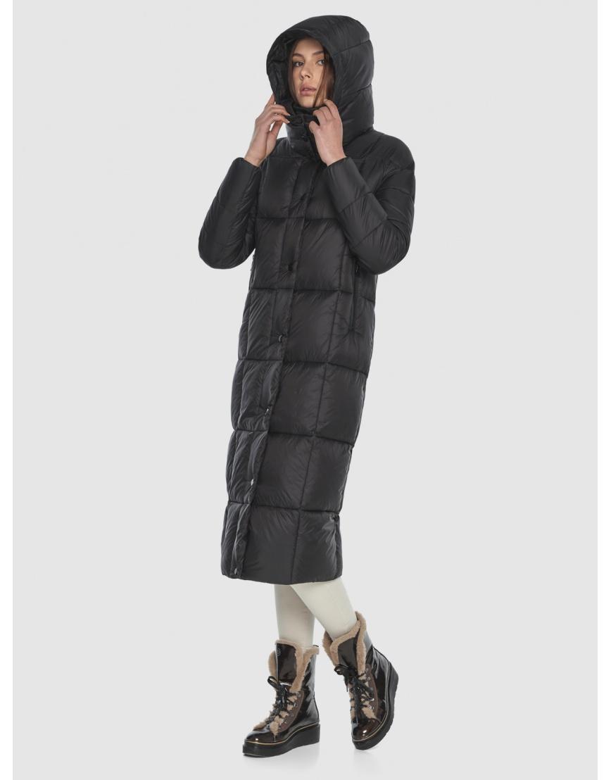 Чёрная длинная куртка женская Wild Club 541-74 фото 6