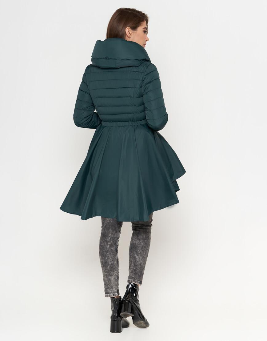 Зеленая куртка женская стильная модель 25755 фото 3
