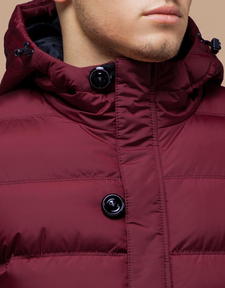 Красная удобная куртка на зиму модель 20180