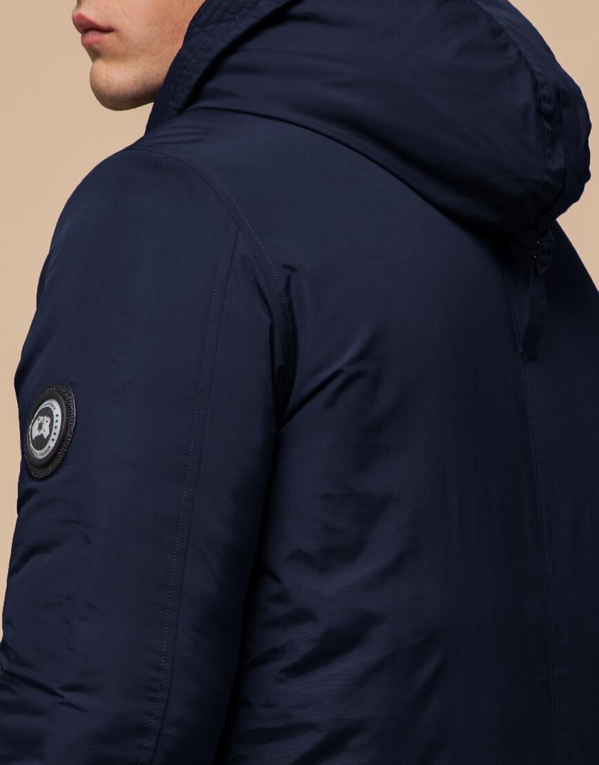 Синяя парка мужская на зиму модель 96120 оптом фото 6