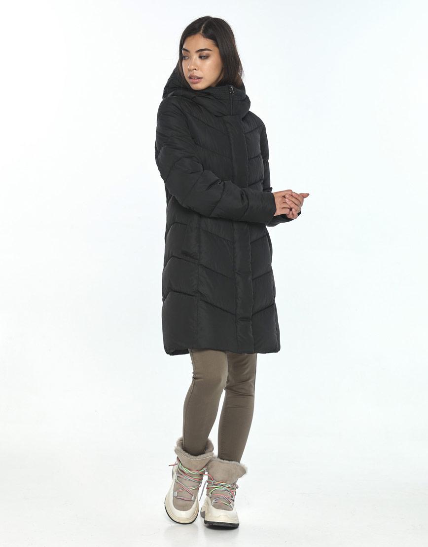 Куртка чёрная женская Moc на зиму M6540 фото 2