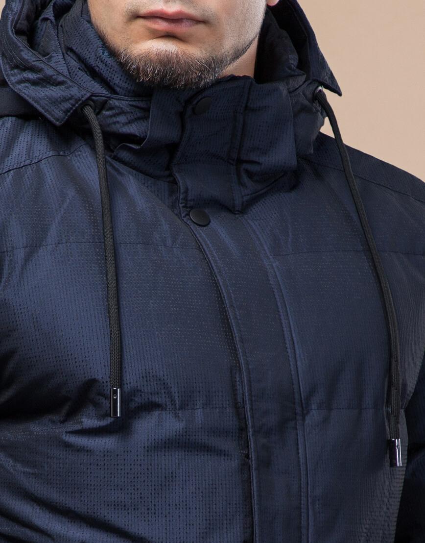 Темно-синяя высококачественная куртка дизайнерская зимняя модель 25180