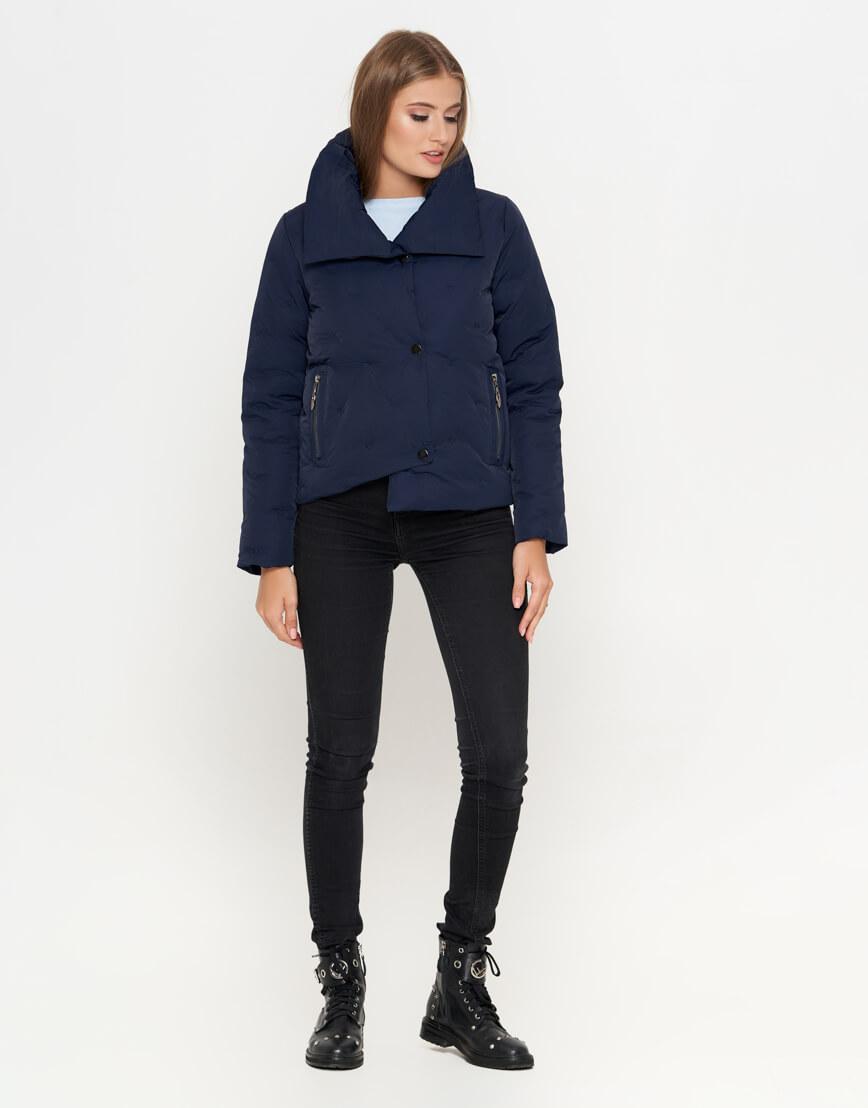 Синяя женская куртка короткая модель 25062 фото 2