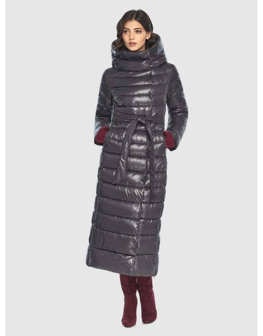 Куртка элегантная женская Vivacana серая 8320/21 фото 3