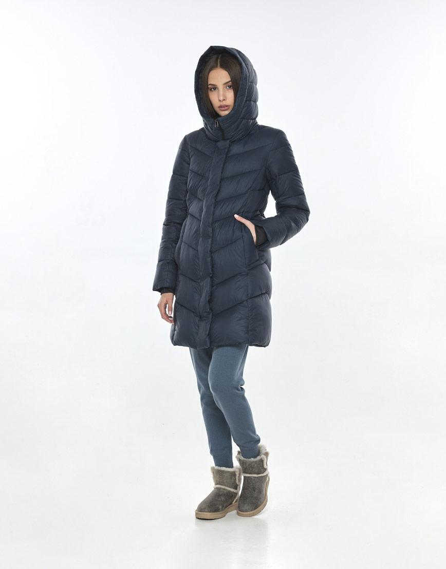 Куртка брендовая синяя женская Vivacana осенне-весенняя 7821/21 фото 2
