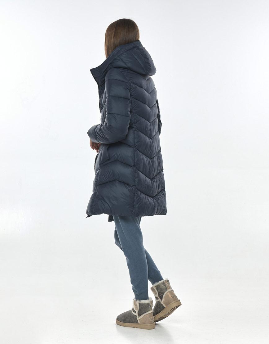 Куртка брендовая синяя женская Vivacana осенне-весенняя 7821/21 фото 3