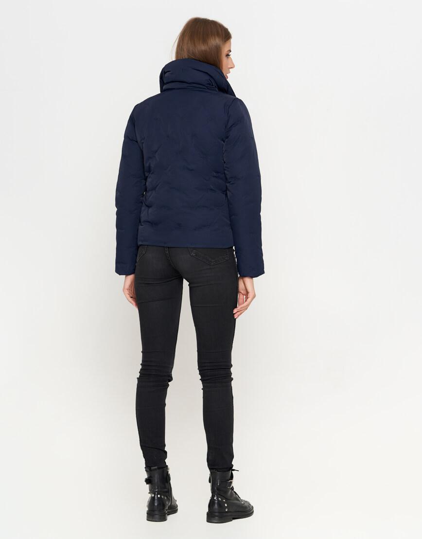 Синяя женская куртка короткая модель 25062 фото 4