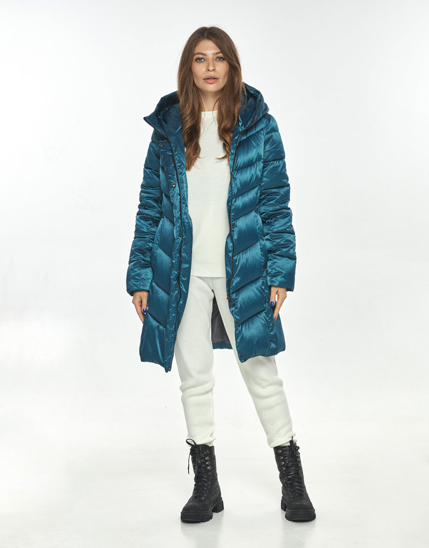 Куртка женская Ajento модная аквамариновая 22857 фото 1