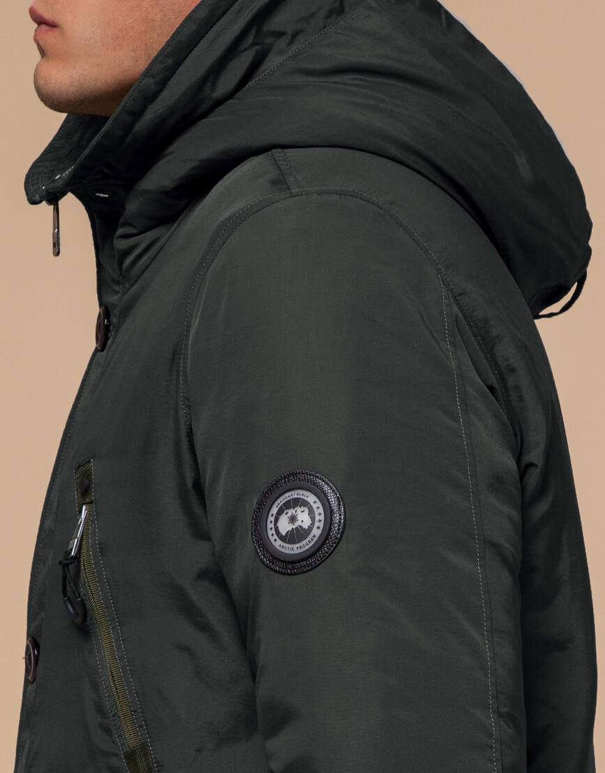 Зимняя парка мужская цвета хаки модель 96120 оптом фото 6