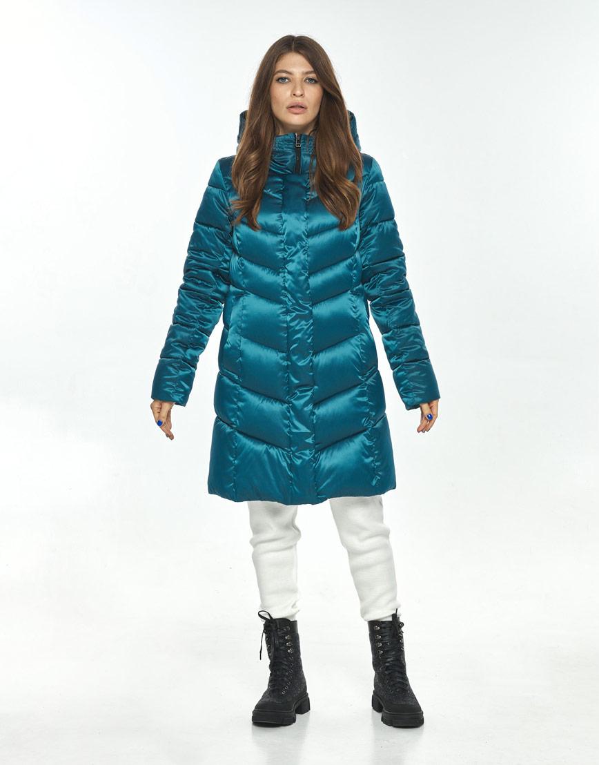 Куртка женская Ajento модная аквамариновая 22857 фото 2